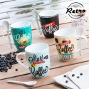 Tazas con Cucharitas Retro Coffee (pack de 4)