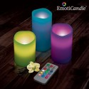 Velas led color con mando a distancia